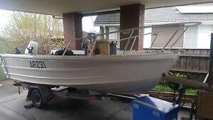 Quintrex centre console 4.5 fishing boat
