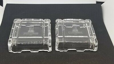 CLARIDGE HOTEL Lead Crystal Glass Trinket Box Souvenir Atlantic City NJ RARE!
