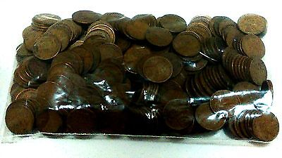 Mixed Lot: 2 pounds (285?) LINCOLN WHEAT Pennies,  One Cent Coins