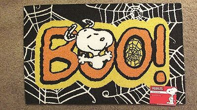 Snoopy Halloween Peanuts Rug Woodstock 20X32 BOO New