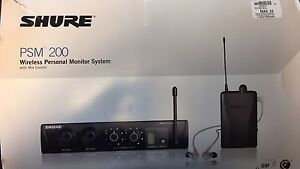 Shure PSM 200 Wireless Personal Monitor System w/ Mix Control