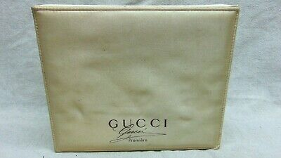 "Authentic Gucci Vintage 60's Beige Box Candy Perfume Jewelry 9"" x 8"""