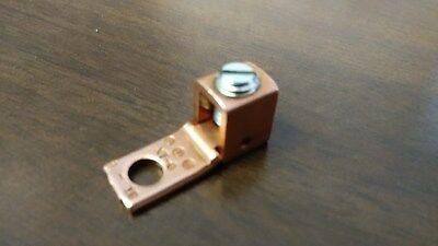 "25 Pcs ILSCO Copper Mechanical Straight Tang Lugs 6-18 AWG 13/64"" Bolt"