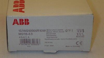 Abb 1sam250000r1009 3 Pole 4.0-6.3a Range Manual Motor Starter Nib