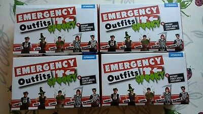 Spin Halloween Costumes (Brand New Halloween Emergency Outfits - Box of 5 X 4 Boxes - Spinning)