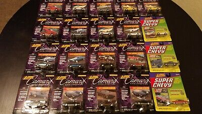 """Johnny Lightning """"All Chevy"""" Camaro Collection Super Chevy Lot Of 20"""