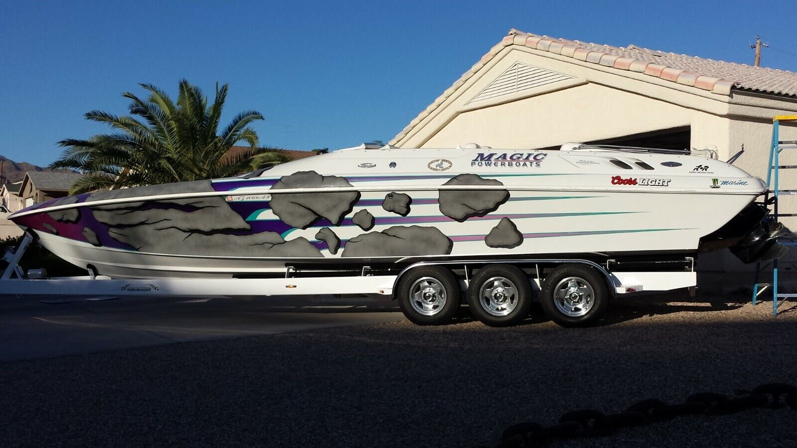 MAGIC 34 ft Sorcerer Power Boat,Fountain,Cigarette Hallett Baja,scarab