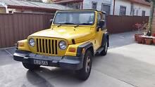 2002 Jeep Wrangler Convertible Yellow Canterbury Canterbury Area Preview