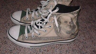 Converse Chuck Taylor All Stars rare Benjamin Franklin  $100 bill shoes