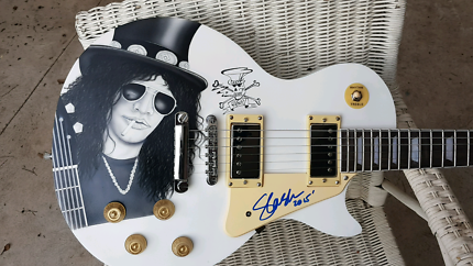 SLASH GUNS N ROSES HAND SIGNED AIRBRUSHED GUITAR CHRISTMAS GIFT Tullamarine Hume Area Preview