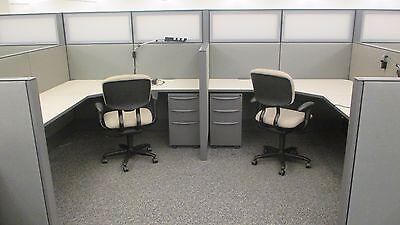 Used Cubicles For Sale, Haworth Office Furniture 6x8