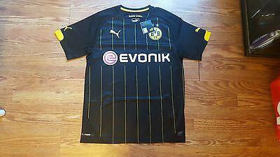 BVB Borussia Dortmund Soccer Away Jersey Season 2015 16 Black Sz M 01800b41e5918