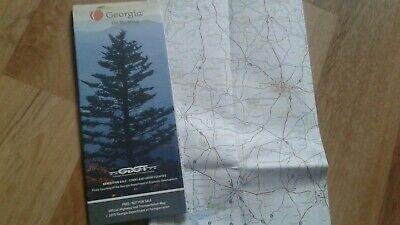 Landkarte, Reisekarte, Map USA Bundesstaat Georgia Autokarte (Usa Reise-karte)