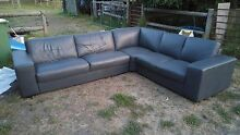 """""""L"""" shaped leather couch/sofa. Cranbourne Casey Area Preview"""