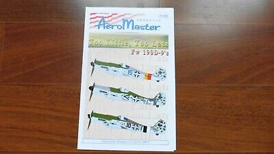 Aeromaster 1/72 Focke Wulf FW-190Ds TOO LITTLE TOO LATE 72203 72-203 Mint