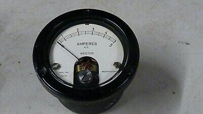 Very Nice Weston Model 1524 0-5 Amp A.c. Panel Meter - New No Box