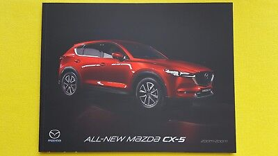 Mazda CX-5 Nav SE-L Sport sales brochure catalogue October 2017 MINT CX 5 C X