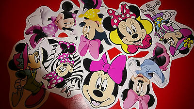 50 MINI MINNIE MOUSE VINYL STICKERS PARTY BAG FILLERS](Mini Mouse Party)