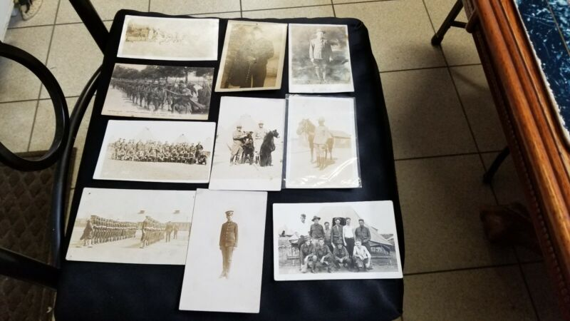 Rare WWI Military War Soldiers picture postcard lot
