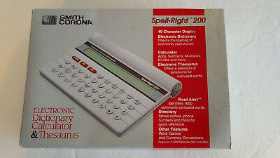 Smith Corona Spell-right 200 Electronic Dictionary Calculator Thesaurus A082