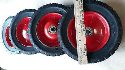 Waxman 4383455 8 Inch By 1.75 Inch Steel Hub Wheel W Hard Rubber Tire Red Hub