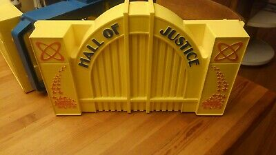 VINTAGE ~ 1984 Kenner HALL OF JUSTICE PLAYSET ~ DC SUPER POWERS