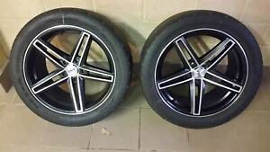2x CSA Emotion 18x9 rims and tyres