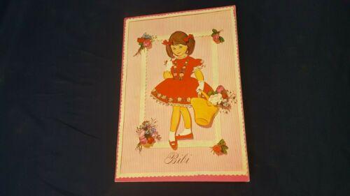 Vintage 1963 Carlsen Bibi #3033-1 Pop-Up Denmark Paper Dolls Book Uncut NOS VG