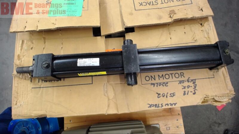 """Parker Hydraulic Cylinder 2"""" Bore, 16"""" Stroke, 2500 Psi"""