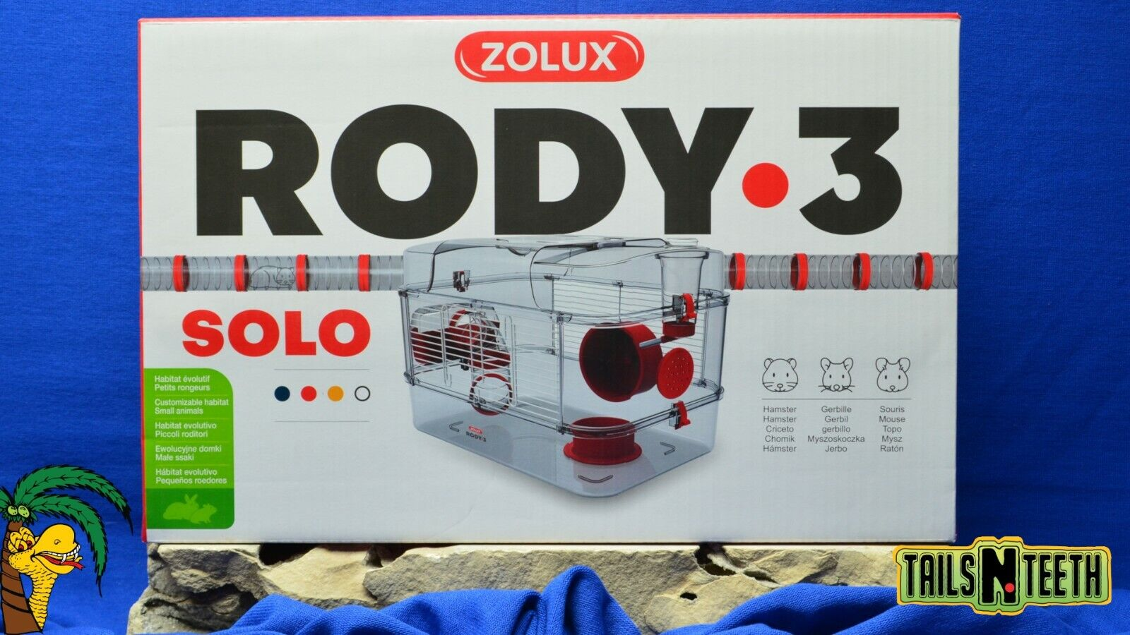Zolux RODY-3 SOLO Cage For Hamsters Gerbils Mice - Red - InterConnecting Cages - CA$46.99