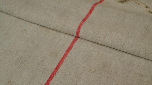 Antique European Feed Sack GRAIN SACK Red Stripe # 7990