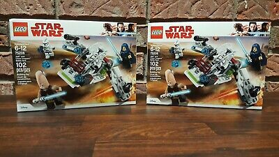 LEGO Star Wars 75206 Jedi and Clone Troopers Battle Pack - LOT OF 2 - New