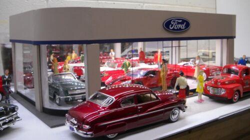 Ford vintage-style model car dealership showroom diorama 1/24 1/25 scale!