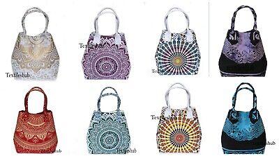 New Mandala Handmade Cotton Handbags Women's Designer Shopping Carry Begs Indian Designer Handbags Shop