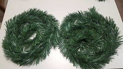 CHRISTMAS TREE GARLAND INDOOR/OUTDOOR ARTIFICIAL TWO STRANDS (GREEN) -