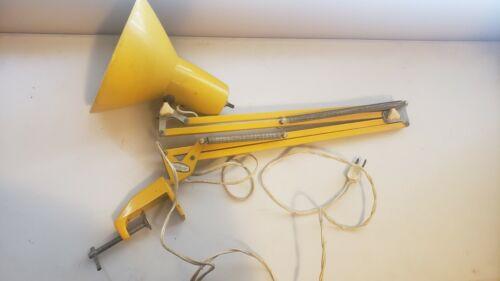 Vintage Ledu Mid Century Yellow Swing Arm Lamp Desk Light Wasomark