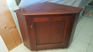 Solid wood corner unit / liquor cabinet / phone table / TV stand Collaroy Manly Area Preview