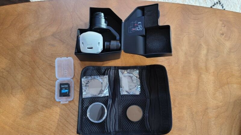 Zenmuse X3 Camera for the DJI Inspire w/ Filters & 16gb Micro SD and Reader