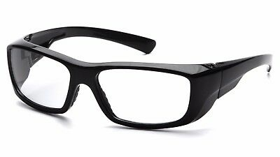 Pyramex Emerge Black Frame Clear Lens 2.0 Reader Safety Glasses Uv Sb7910d20
