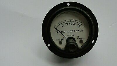 Vintage Weston Percent Of Power Electrical Gauge Dc 506 150 Ma.