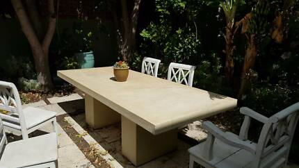 Travertine or marble large table