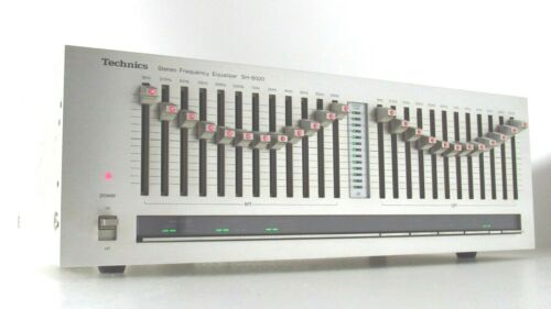 Technics Silver Face 12 Band Stereo Frequency Equalizer SH-8020 LED