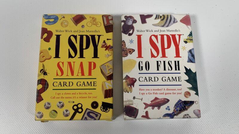 I Spy Snap And I Spy Go Fish, Vintage Childrens Card Games