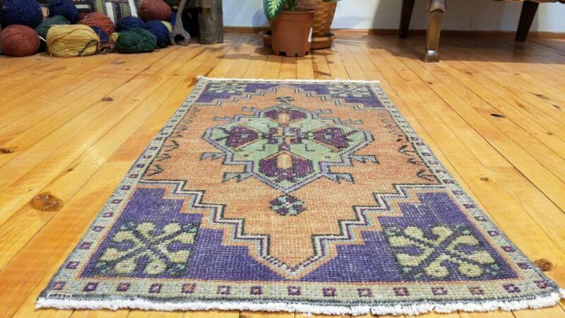 Vintage Turkish Tribal Rug 1