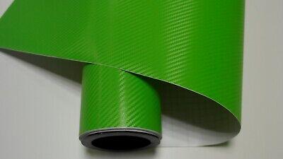 6,22€//m²  3D Carbon Folie grün blasenfrei 200 x 152cm Klebefolie Carbon Optik