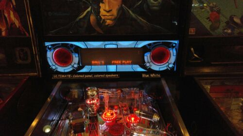 Terminator 2 T2 - Lighted Pinball LED Speaker Panel - ULTIMATE