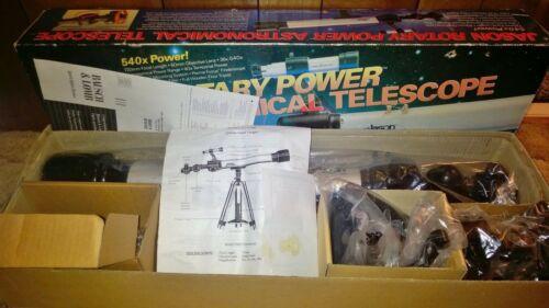 Vintage Jason Rotary Power Astronomical Telescope Model 500-DSM 540x Power