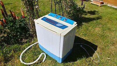 Apex Twin portable 5.2KG MINI WASHING MACHINE Spin Dryer + drain pump Caravan