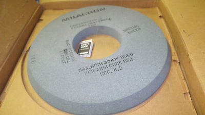 """Milacron surface grinding wheel 22 to 23"""" 600X50X203.2  arbor 8""""dia. 2"""" wide NEW"""