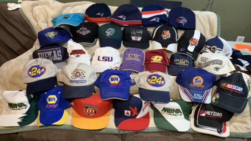 Resale Lot 30 Sports Hats Baseball Strapback Snapback Winter MLB NFL NASCAR NCAA - $99.99